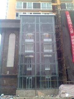 随州方形钢化玻璃观光电梯钢结构井道报价明细