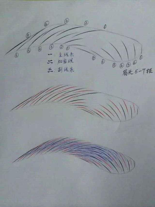 手绘线条眉图片