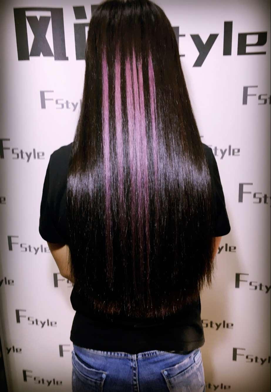 跟自己的头发能很好的衔接,所以很难看出接发的痕迹.图片