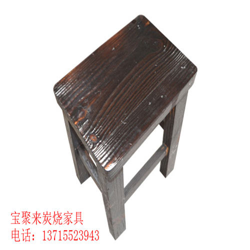 深度碳化方凳