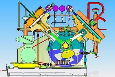 目前往复式压缩机主要是活塞式空压机,化工工艺压缩机,石油,天然气图片