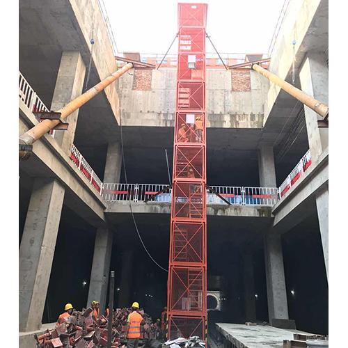 延安延川县基坑梯笼,箱式安全梯笼施工