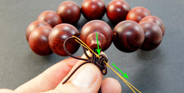 佛珠手串三通穿法及中国结打法图解|点创手串工艺品