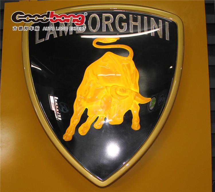 上海汽车标识制作 兰博基尼户外广告招牌制作 车标制作高清图片