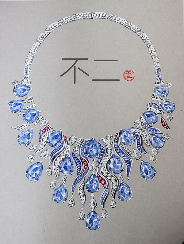 上海珠宝设计手绘课程教学培训中心