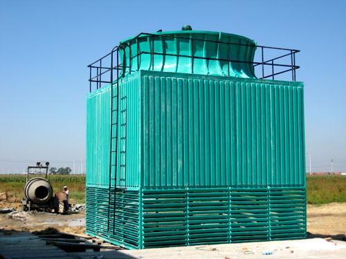 部杰最新生产方形闭式玻璃钢冷却塔,使用寿命长