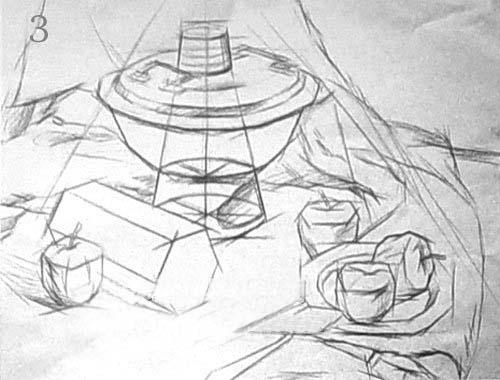 在结构素描绘画中