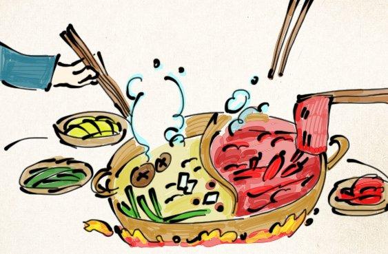 卡通人物吃串串