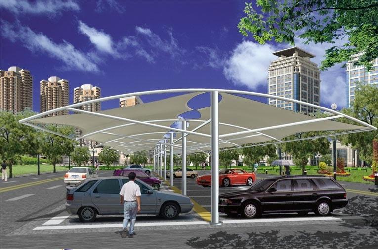 特价批发 户外伞 遮阳伞 户外停车棚 膜结构工程 膜结构车棚