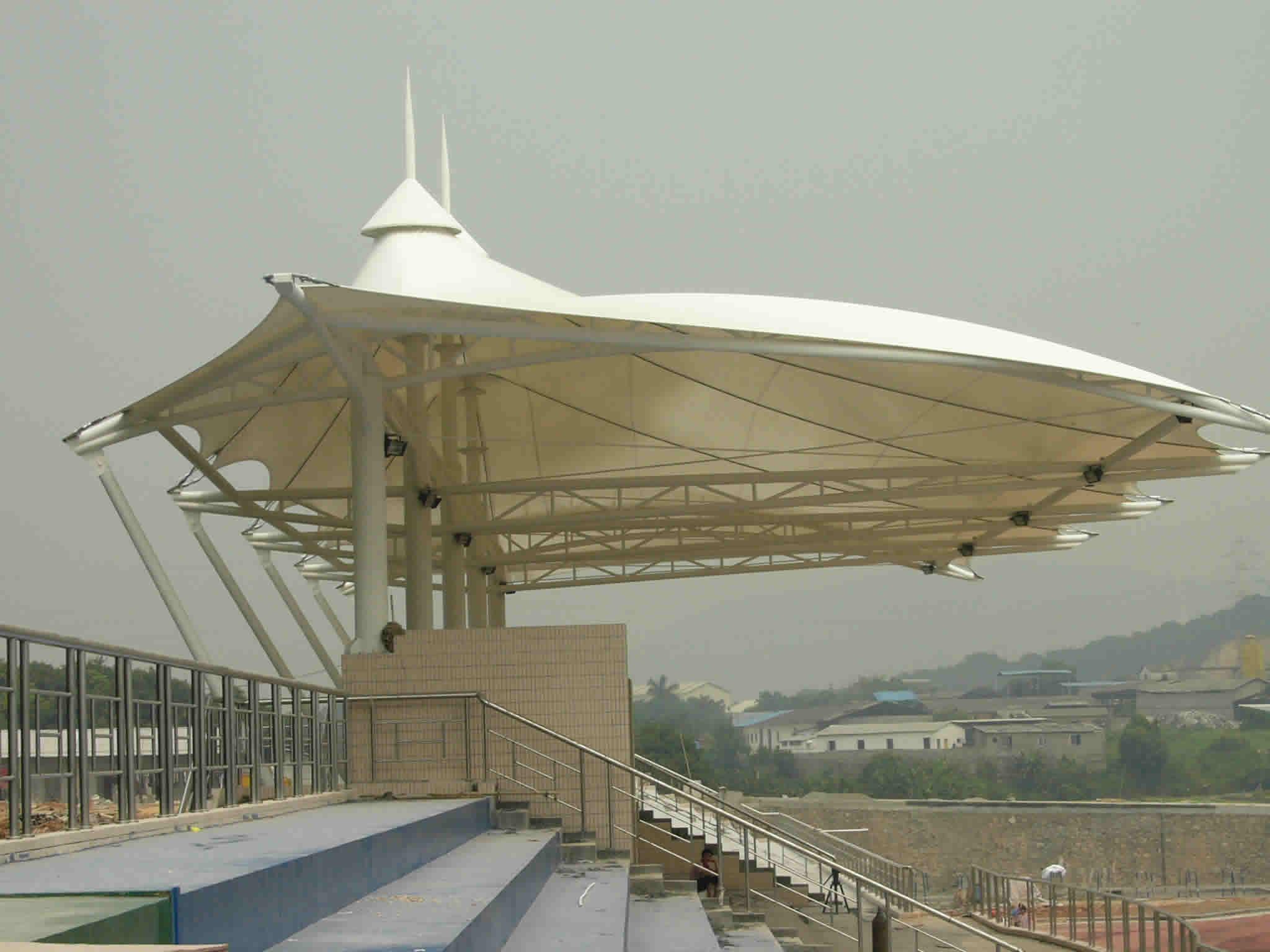 膜结构体育场馆学校膜结构看台膜结构定做