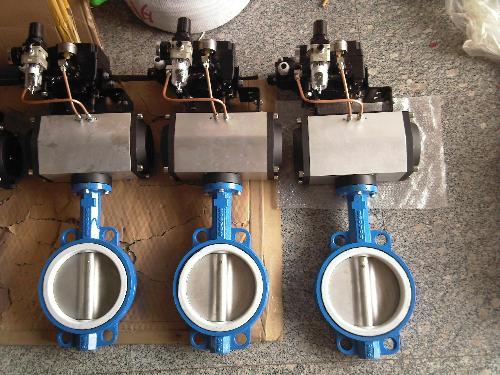 大型高温蝶阀采用钢板焊接制造,主要用于高温介质的烟风道和煤气管道.图片