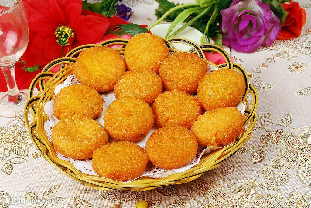 南瓜饼制作 南瓜饼培训 南瓜饼学习 在家怎么做南瓜饼 简单南瓜饼