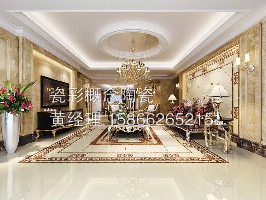 客厅走廊瓷砖图片冠珠客厅瓷砖图片1