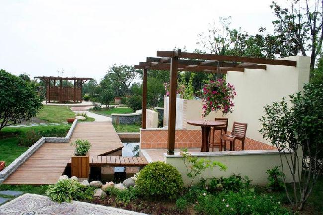 别墅私家花园设计,屋顶花园设计