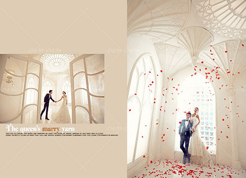 设计婚纱画步骤