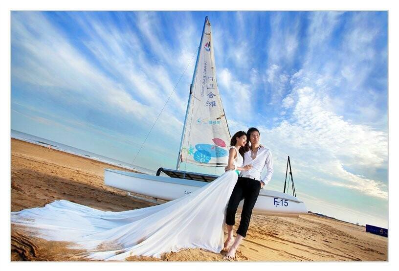 郑州海边婚纱照哪家好?海景婚纱摄影选哪儿啊?