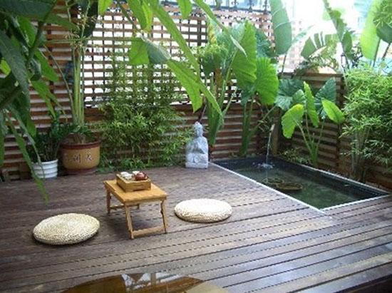 南京别墅日式小庭院设计