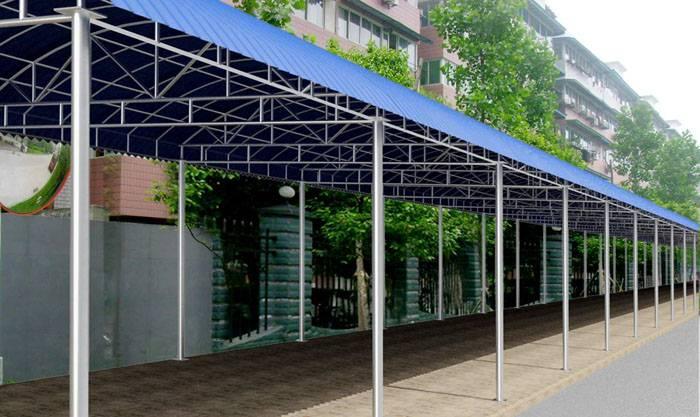 清远钢结构雨棚搭建 哪家价格相对来说比较便宜?图片