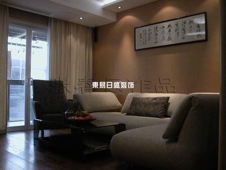 南京小户型客厅装修实例高清图片