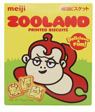 日本明治动物乐园饼干,每一块精心烘培,雕刻可爱的动物形象,让小