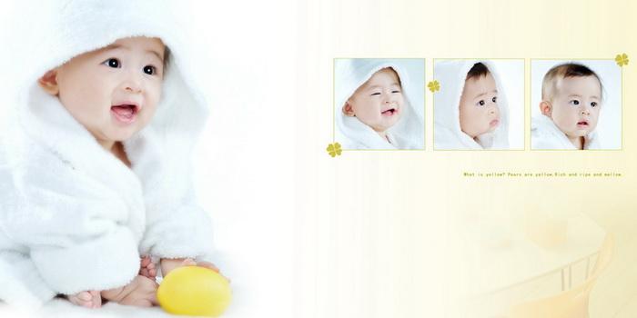 一对男孩可爱宝宝图片