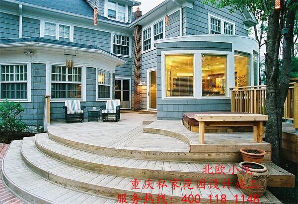 重庆北欧小院高端别墅私家花园设计制作