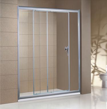 淋浴间玻璃花纹隔断