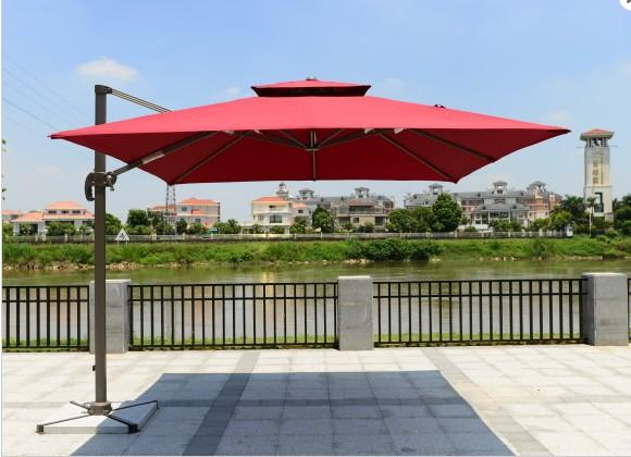 户外遮阳伞庭院罗马伞保安岗亭遮阳伞可印LOGO
