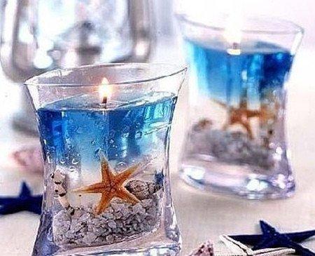如何diy水晶蜡烛