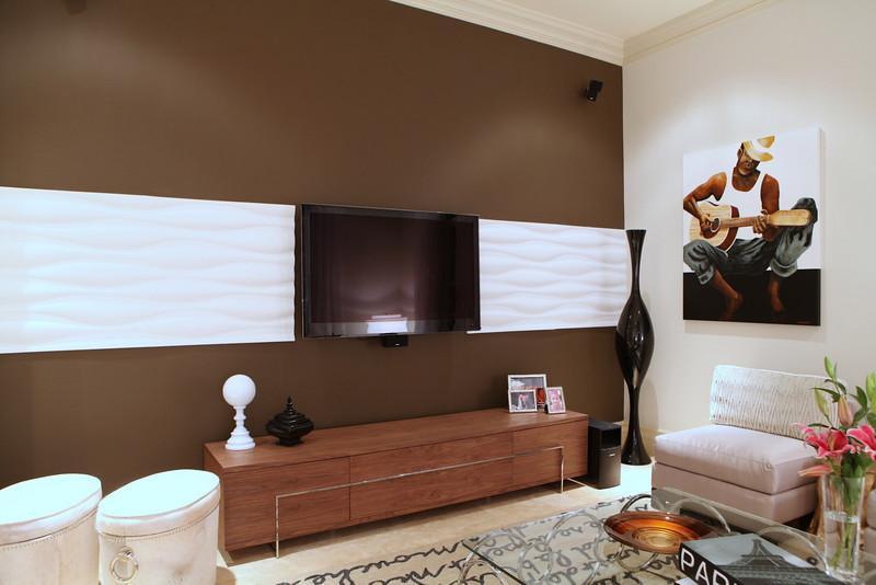 现代电视机背景墙设计