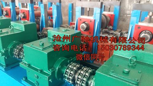 广驰机器供应天津客户两台光伏支架生产设备,
