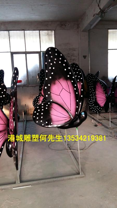 湖南户外景区玻璃钢蝴蝶雕塑繁荣与发展