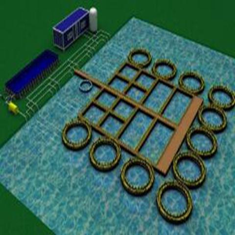 湖泊受控悬浮式循环水养殖系统