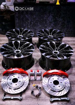 日产途乐刹车系统改装案例,brembo六活塞刹车套装