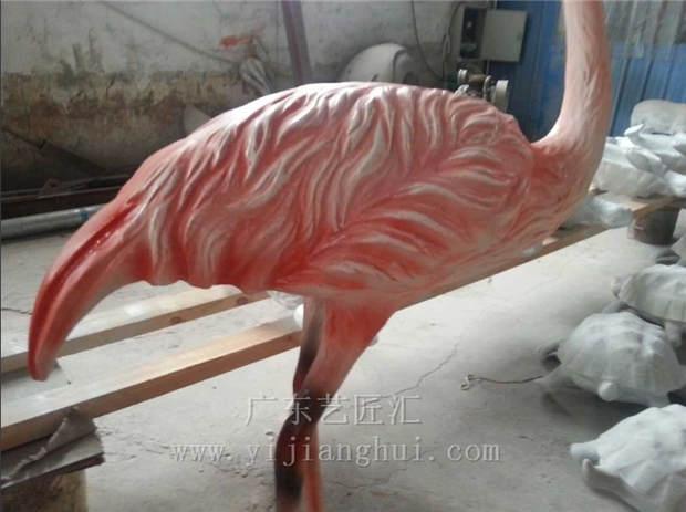 仿真动物 仿真红鹤 美丽的雕塑厂家批发