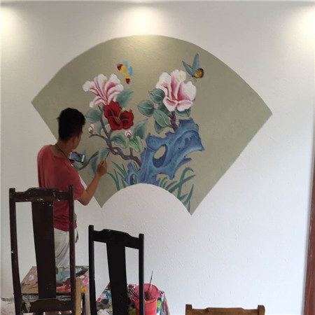 广州背景墙墙绘设计-创意手绘墙创作,画出家居情调