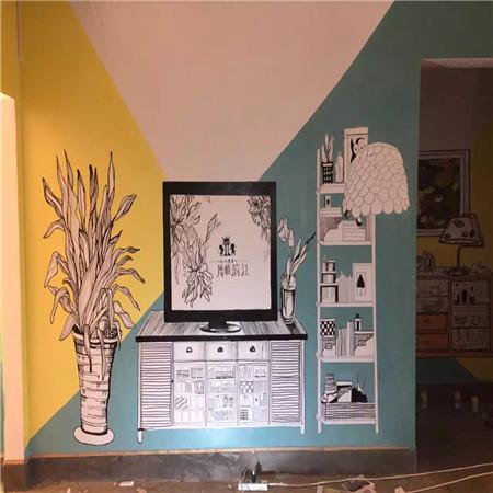 广州样板房手绘墙画创作公司-手绘墙创意设计,打造家居墙面亮点