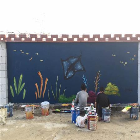 广州价格墙绘v价格背心-创意墙绘装饰,不经意间围墙情趣漆皮图片