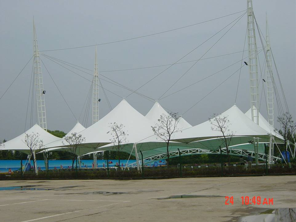 建筑索膜结构停车棚