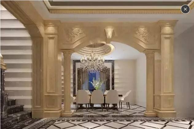 石材圆柱罗马柱造型应用,专业罗马柱设计安装图片