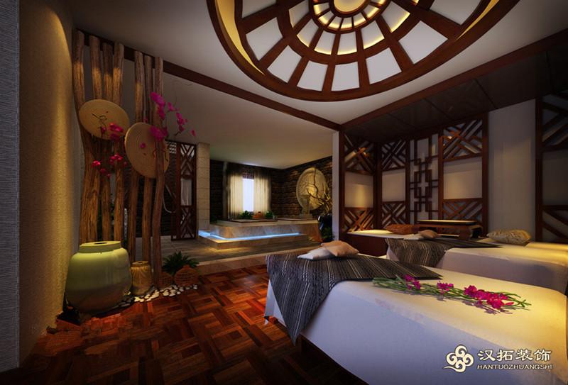 美容院美发沙龙spa会所养生会所装修设计