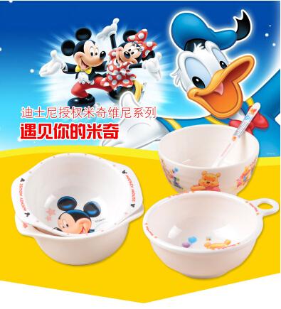 儿童餐具宝宝米饭碗可爱卡通创意碗婴儿密胺塑料防摔小碗辅食用品