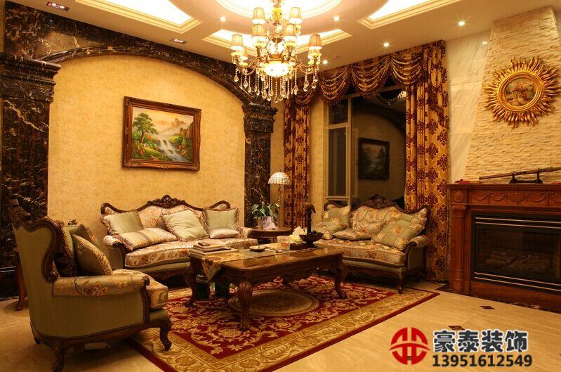 南京欧式别墅客厅装修效果图有哪些