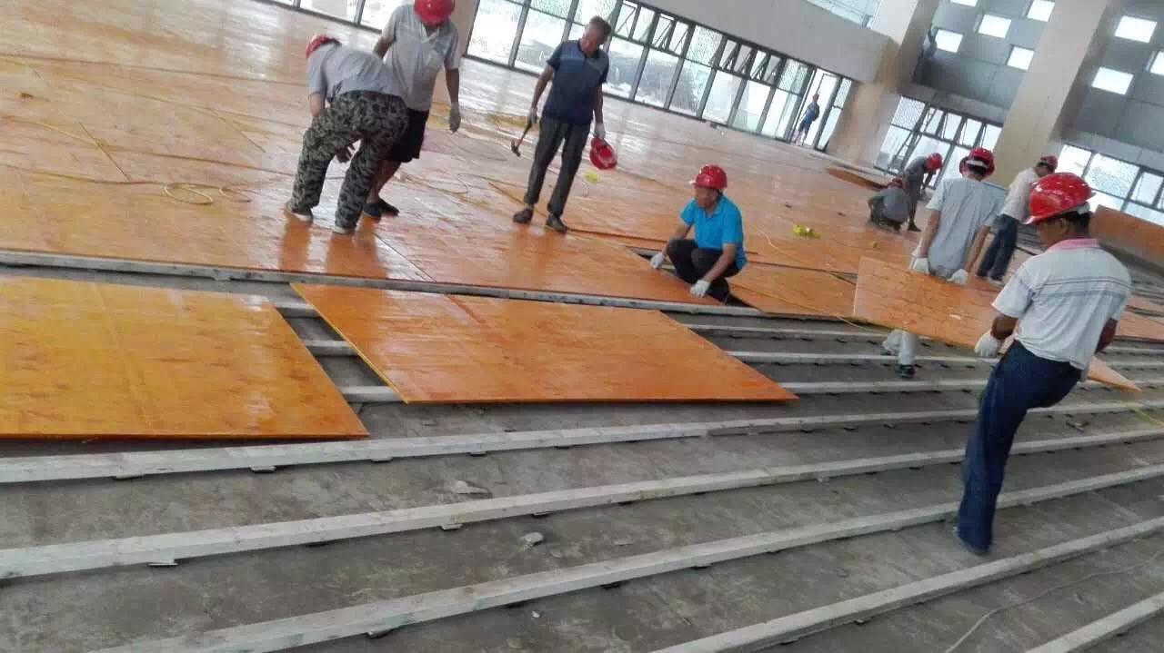 篮球馆运动木地板施工细节介绍