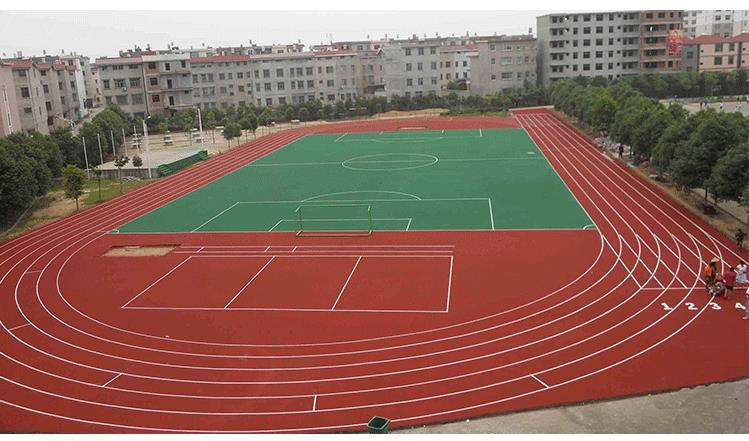 复合型塑胶跑道施工建造 广东塑胶跑道 专注运动跑道18年
