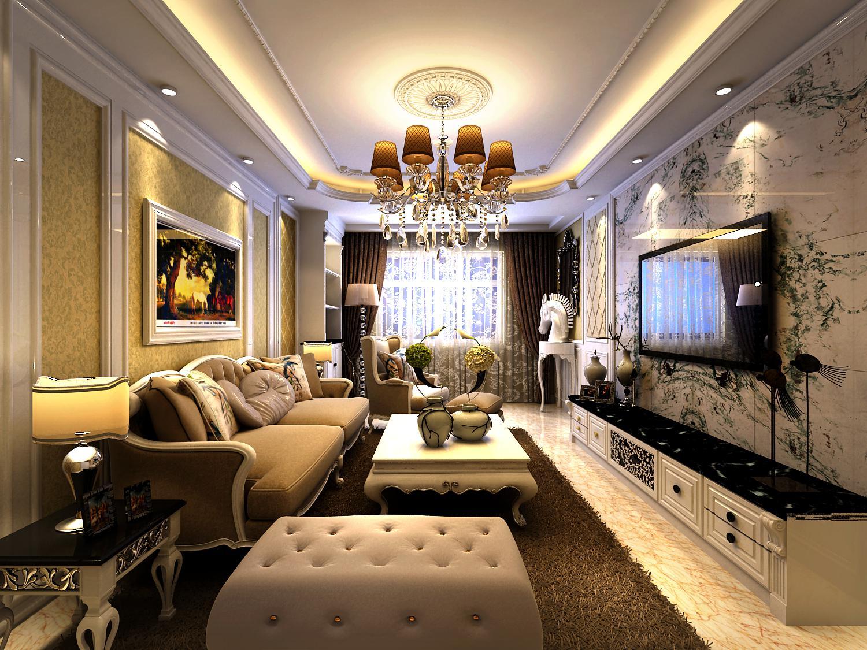 郑州二七区两室一厅欧式风格装修,含主材报价.