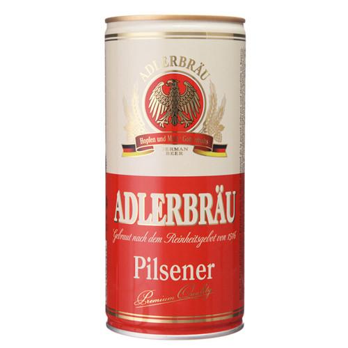 德国进口啤酒 阿德勒鹰皮尔森啤酒1l 休闲食品饮品