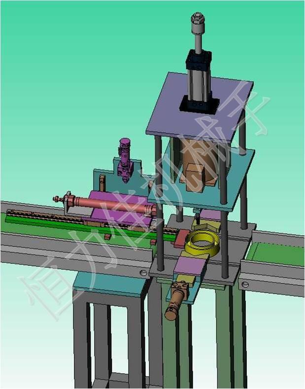 二、三次元机械手结构主要驱动源通过伺服马达、气动原件以及各精密配件组成。各个动作以单独控制,也可以连续运行,灵活性高,调试简单方便机械手由手臂、夹子等元件组成,可保证夹持产品时平稳、可靠,保证产品准确地从左向右传递,低噪声;仅更换夹就可适应多品种生产应用:电池壳、厨卫、马达端盖、灯罩、汽车滤清器等多工位拉伸件冲压自动送料。 二次元机械手它包括一机械手臂,两个分别从两侧推动机械手臂同步夹紧与松开的水平连杆机构,一曲柄导轨机构,包括滑轮、曲柄和导轨,所述电机驱动所述曲柄和所述滑轮作圆周运动,所述滑轮带动上、
