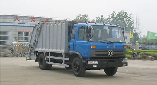 压缩垃圾车 楚胜压缩式垃圾车的操作流程