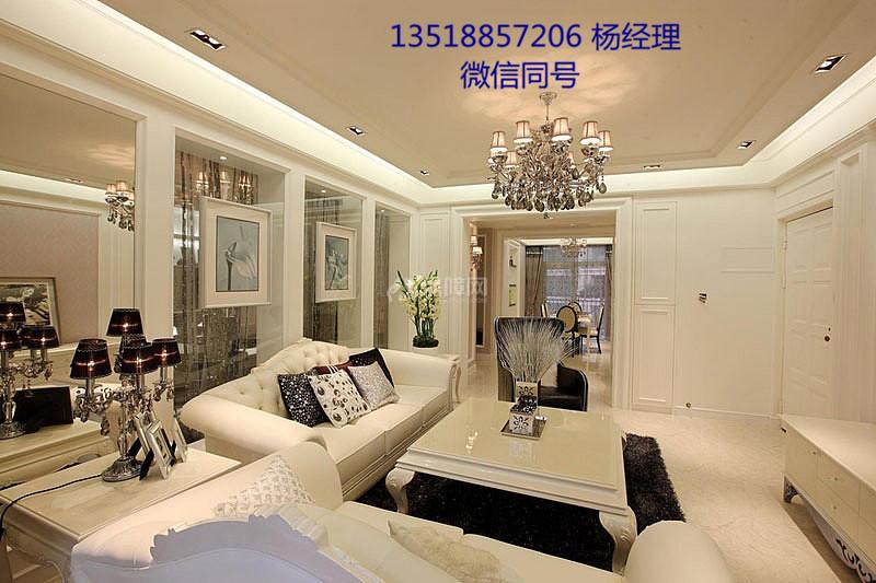 海口装修简约欧式客厅装修效果图 简欧客厅尽显华丽浪漫图片